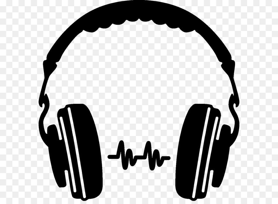 Headphones clipart. Silhouette icon png download