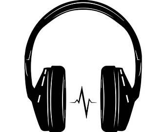 Clip art etsy music. Headphones clipart