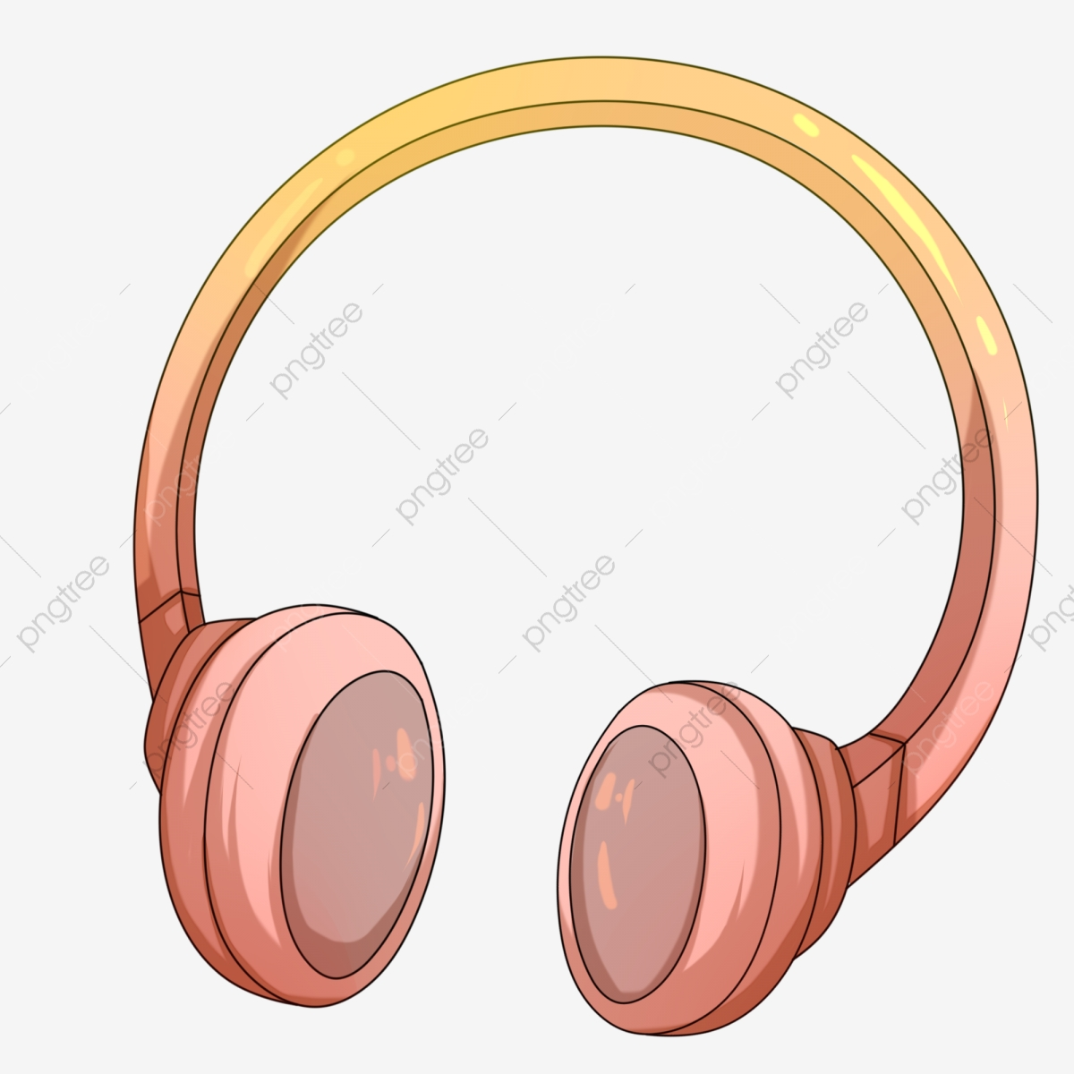 Headphones clipart accessories. Beautiful fantasy listening to