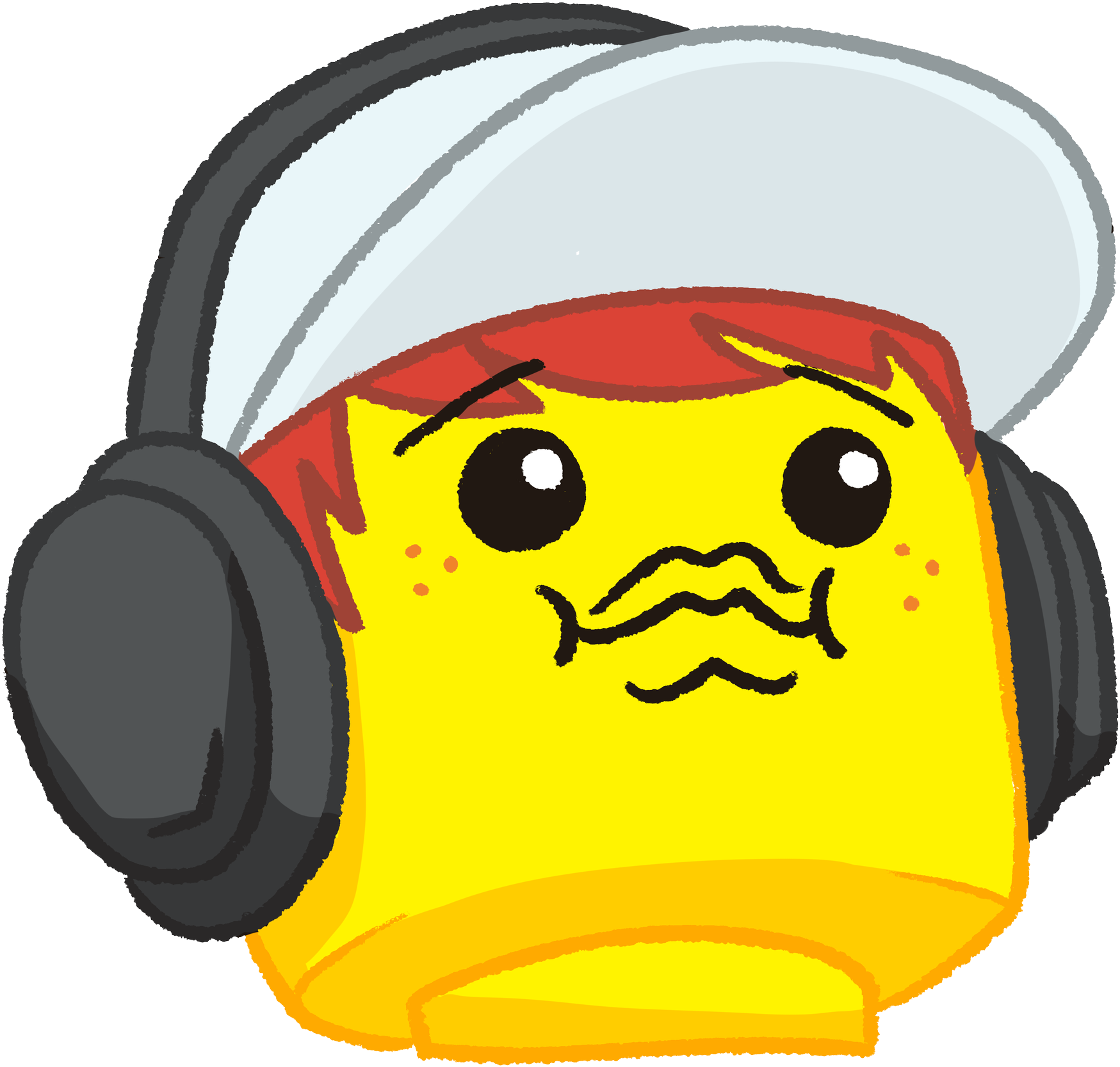 Lego discord emotes png. Headphones clipart comic