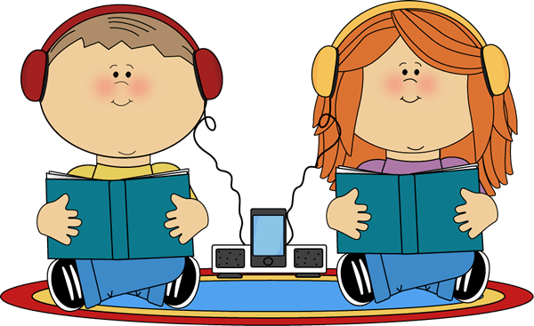 Headphones clipart listened. Book listening cliparts zone