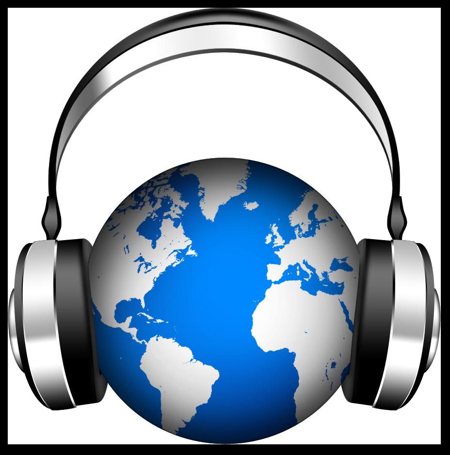 Listen your favorite music. Headphones clipart listening post
