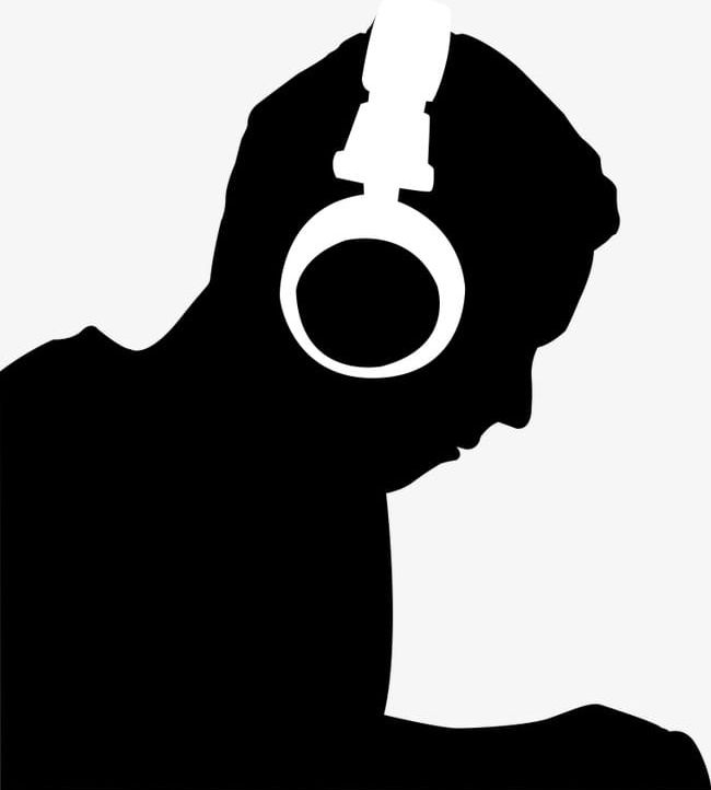 Man wearing png . Headphones clipart person