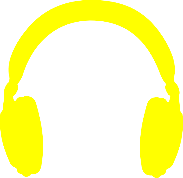 Icons without background clip. Headphones clipart sign