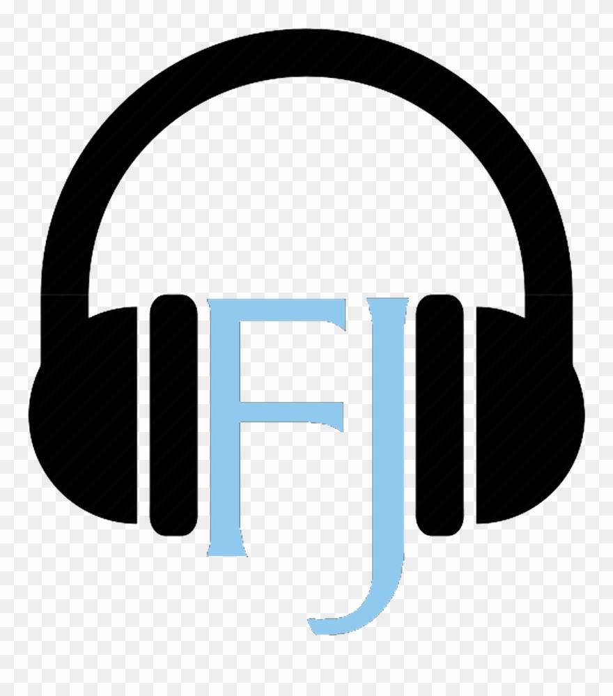 Headphones clipart sign. Podcast clip art png