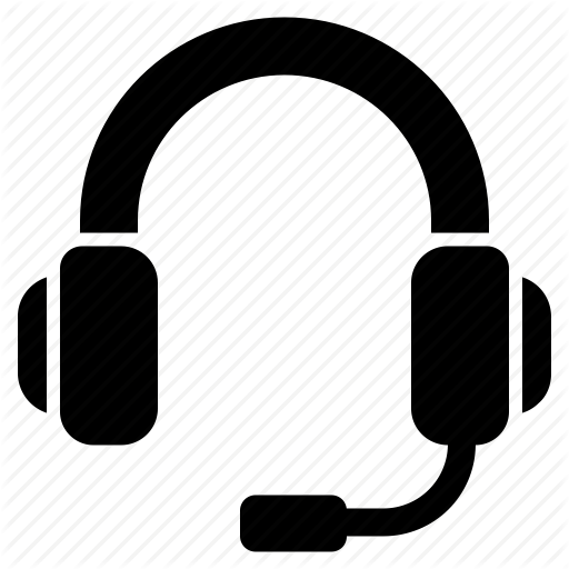 Headphones icon png. Contact us set by