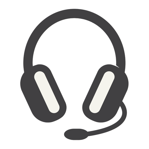 Headphones icon png. Flat headphone with thick
