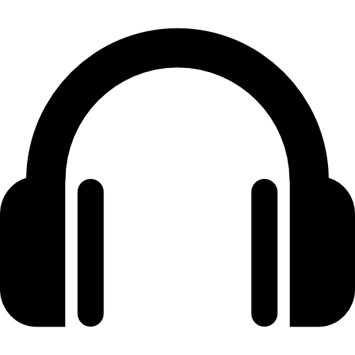 Headphones icon png. Headphone symbol free music