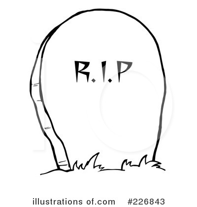 Headstone clipart. Illustration by hit toon