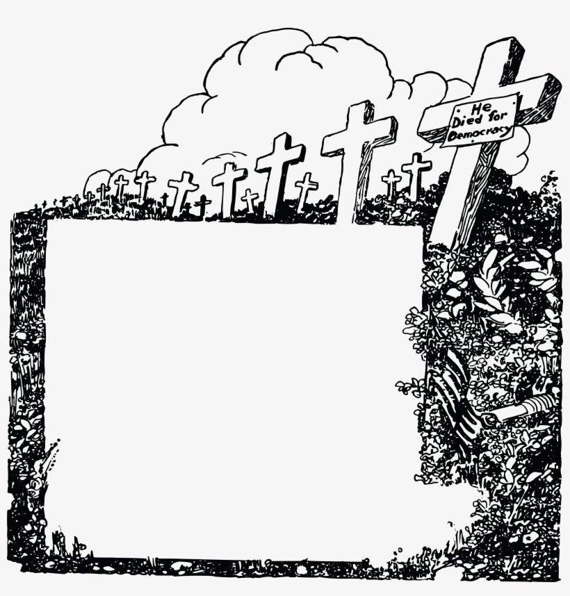 Headstone clipart border. Grave frame png borders
