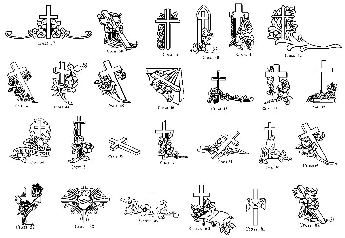 Cross american headstones . Headstone clipart head stone
