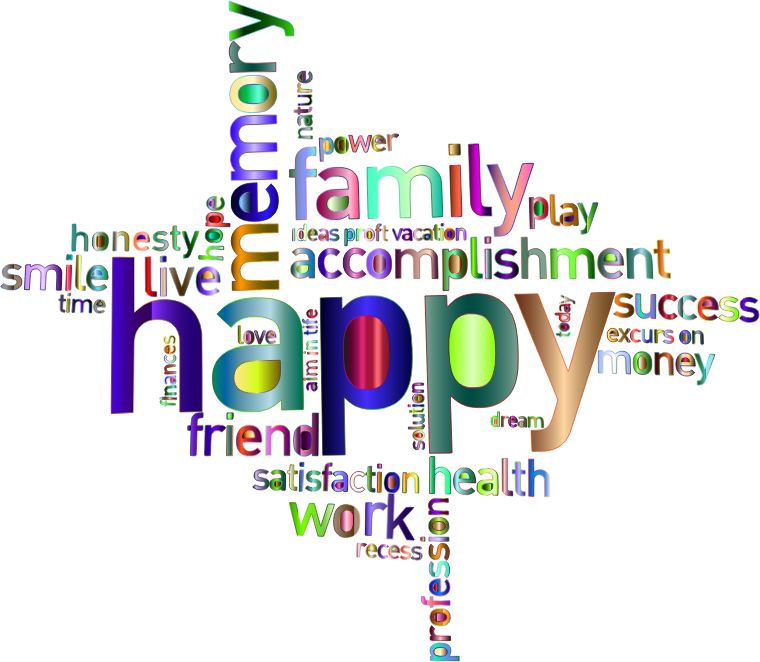 Health clipart background design. Prismatic happy family word