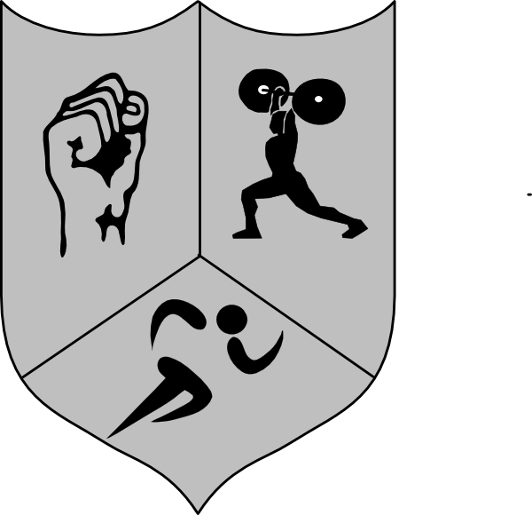 Group athletic shiled clip. Muscles clipart endurance