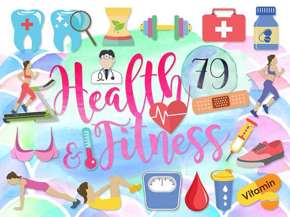 fitness cliparts teeth. Health clipart cute