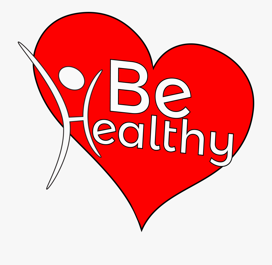 Health clipart healt. Healthy jpg black and