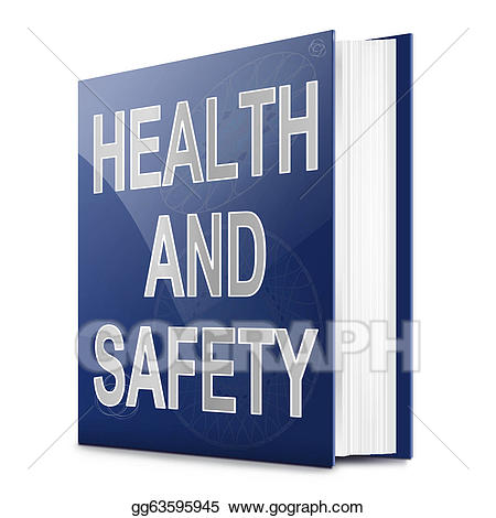 Stock illustration and safety. Health clipart health book