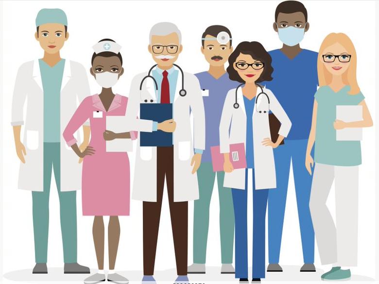 Patient clipart health care provider. Cartoon medicine hospital