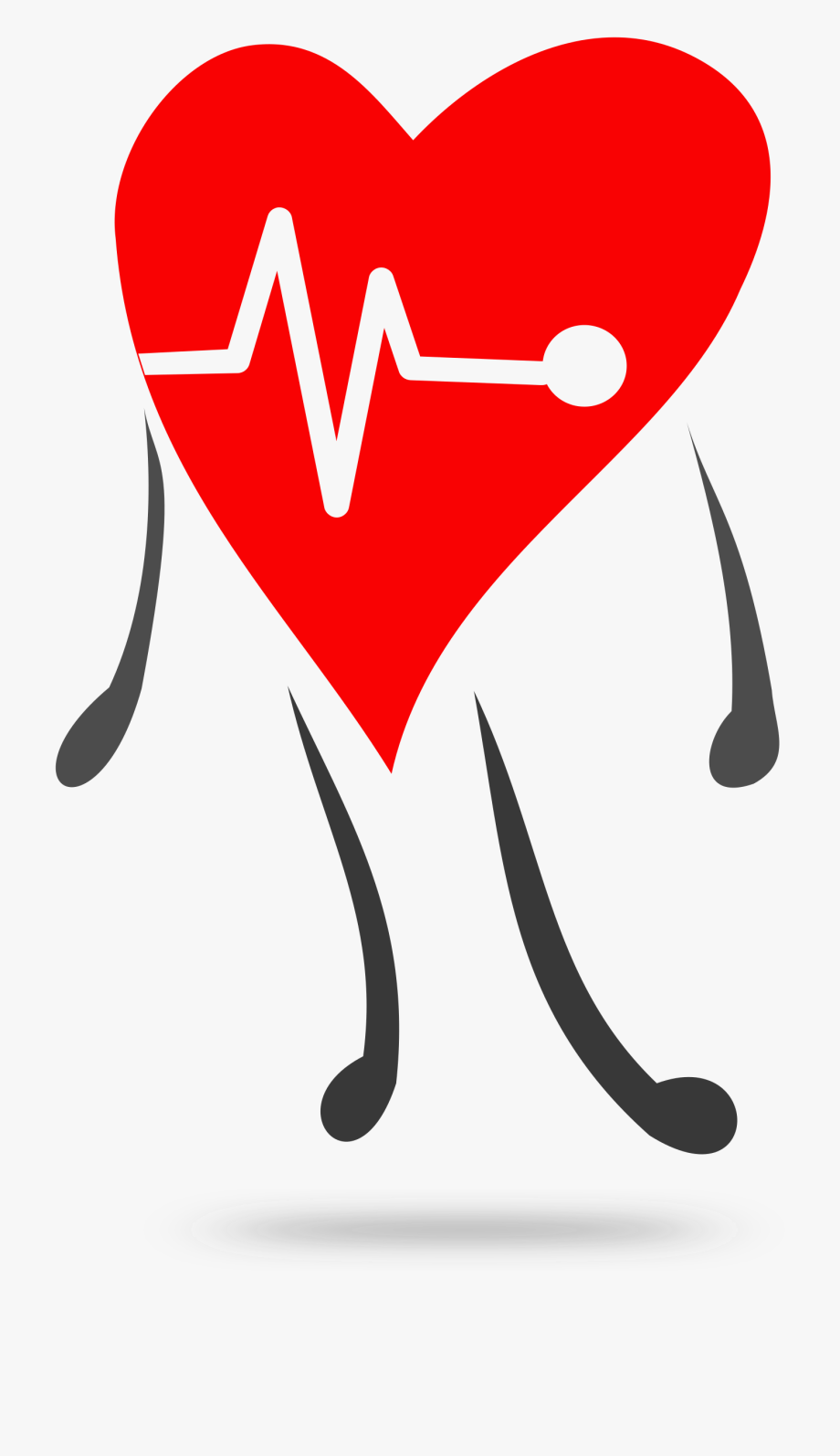 Healthy heart . Heartbeat clipart health symbol