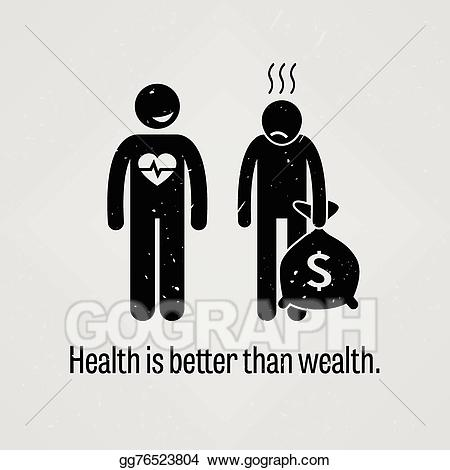 Vector illustration is better. Health clipart health wealth