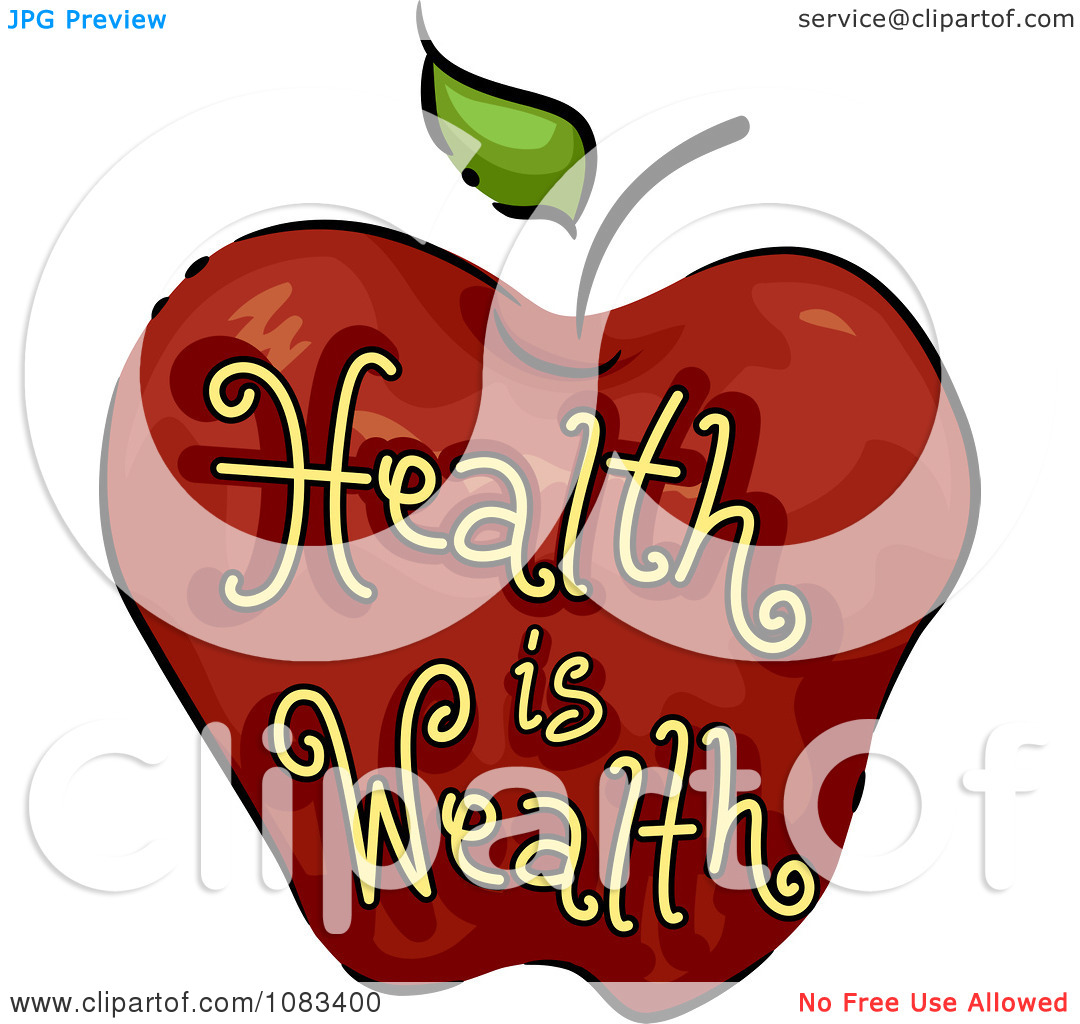 Health clipart health wealth. Is apple panda free