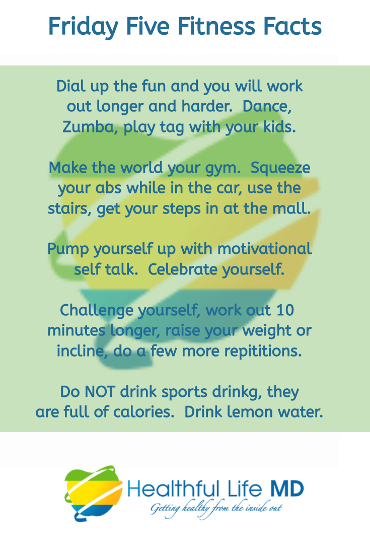 Friday five fitness facts. Health clipart healthy weight