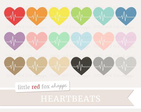 Heartbeat clipart cute. Fitness clip art heart