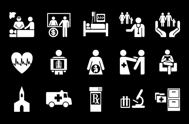 Health clipart hospital symbol. Jrc design environmental graphics