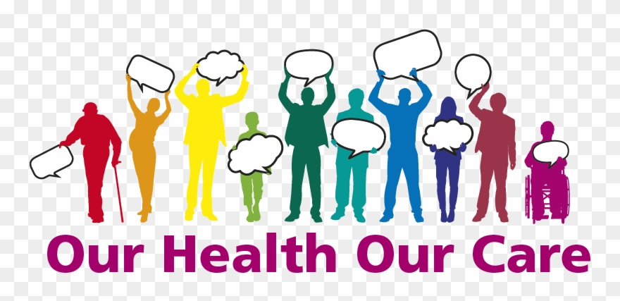 Healthcare team our care. Medical clipart health