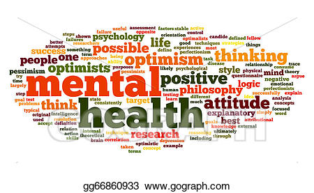 Stock illustration mental in. Health clipart word