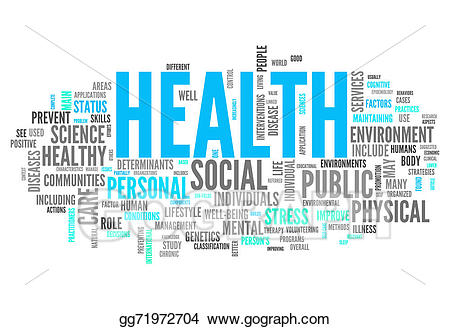 Stock illustration cloud . Health clipart word