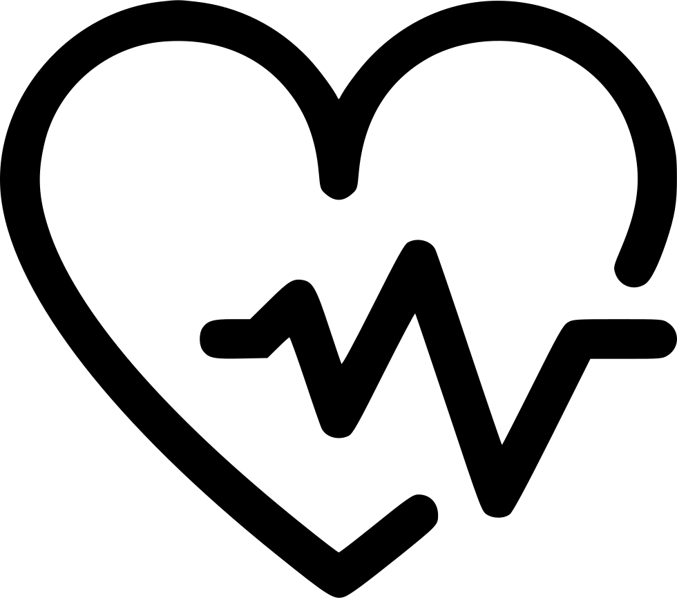 Fitness heart rate bit. Health icon png
