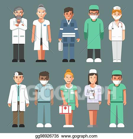 Healthcare clipart clinical staff. Vector illustration medical in