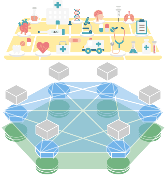 Blockchain operating system to. Healthcare clipart health report