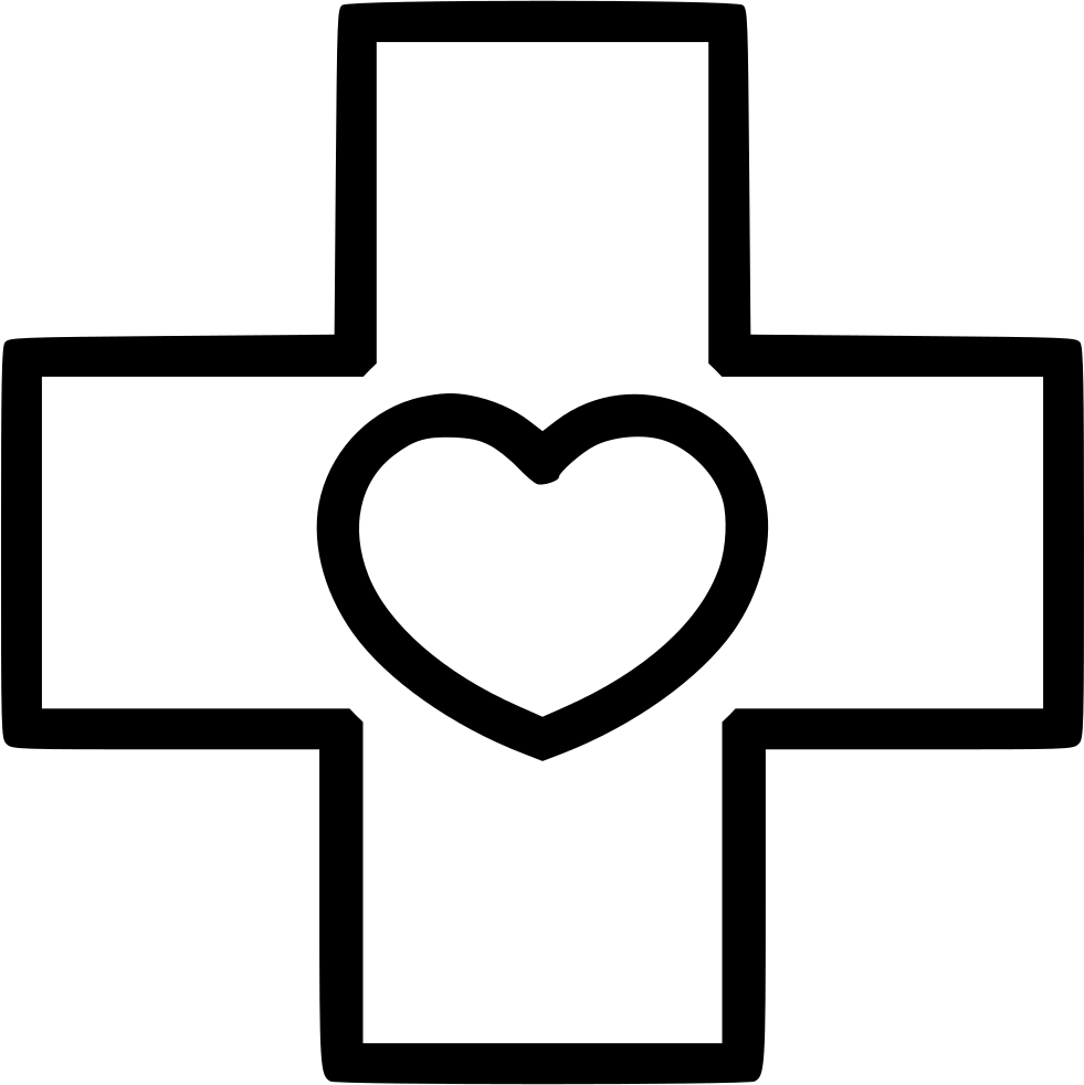 Healthcare clipart hospital material. Medicine cross heart svg