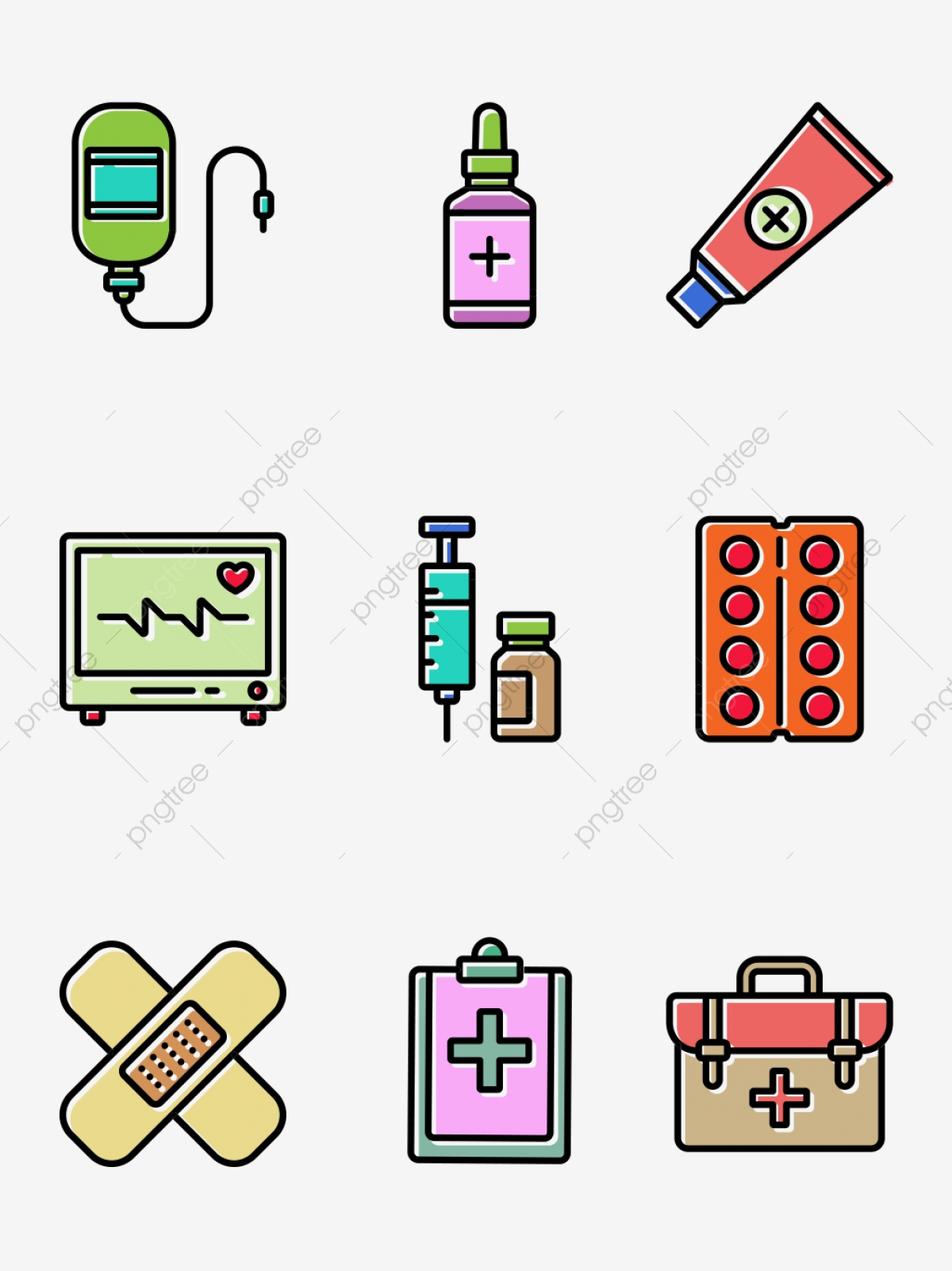 hand drawn medical. Healthcare clipart hospital material