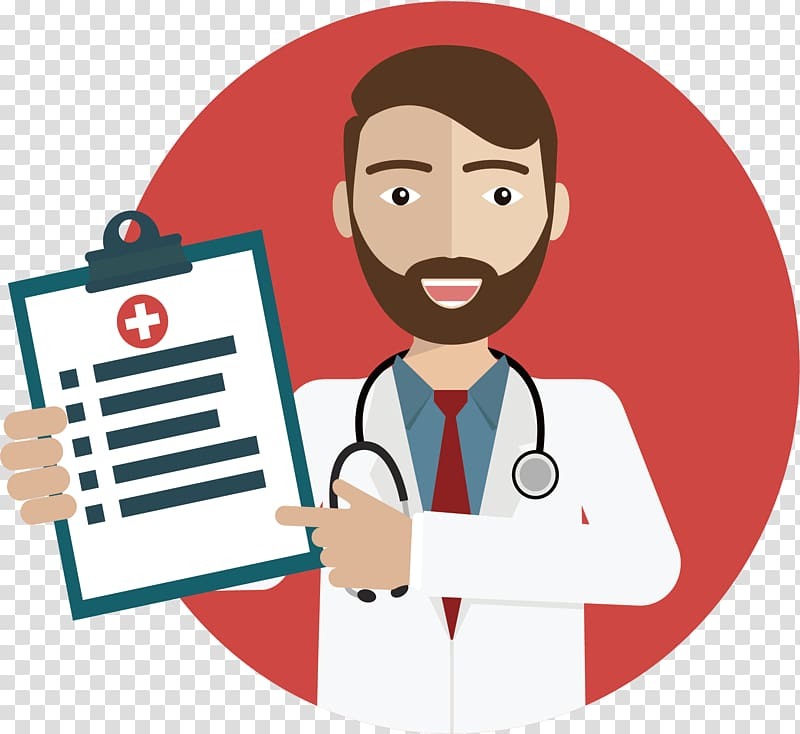 Medicine clipart medical condition. Doctor holding clipboard illustration