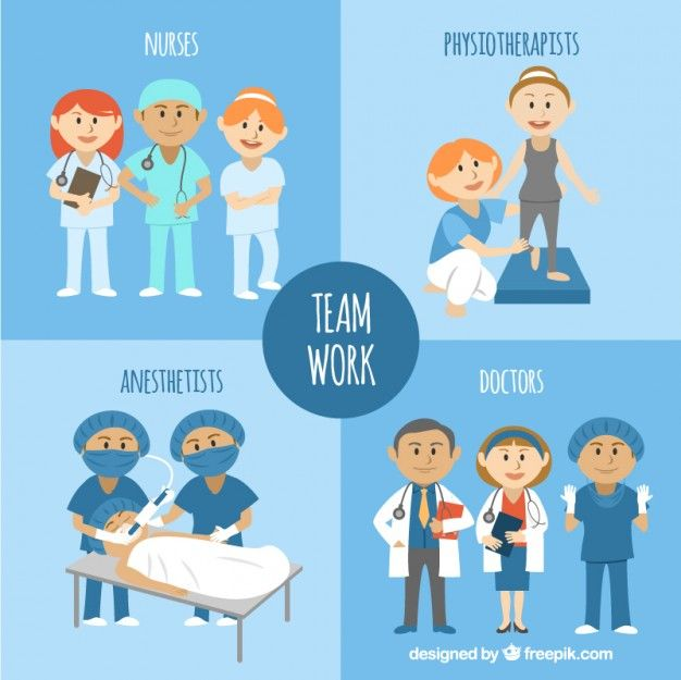 Teamwork clipart medical. Illustrated free vector hospital