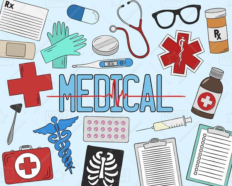 Medical clipart health. Vector pack healthcare hospital