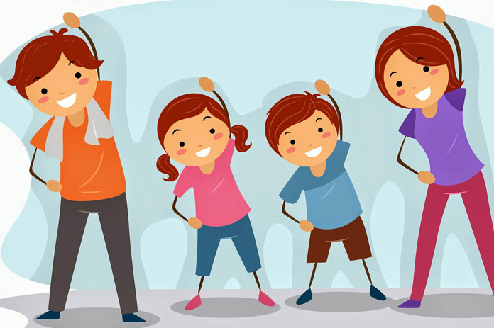 Healthy clipart active. People how to stay