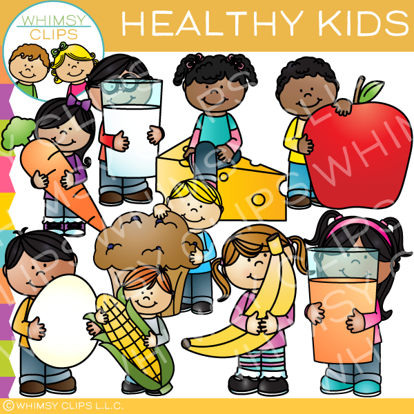 Healthy clipart childrens health. Kids clip art