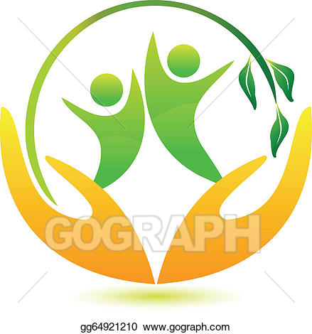 Healthy clipart happy healthy. Vector and people logo