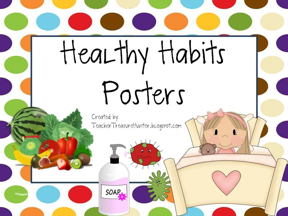 Habits posters back to. Healthy clipart health teacher
