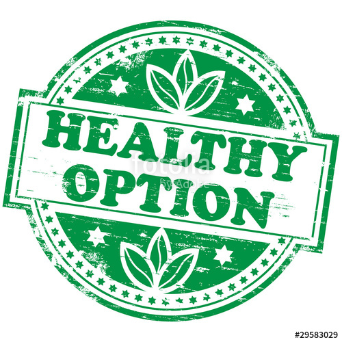 Healthy clipart healthy choice. Rubber stamp illustration showing