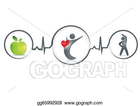 Healthy clipart healthy human. Eps illustration vector gg