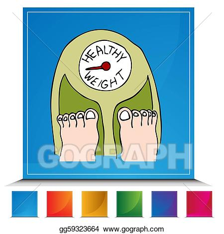 Weight clipart healthy weight. Vector scale button