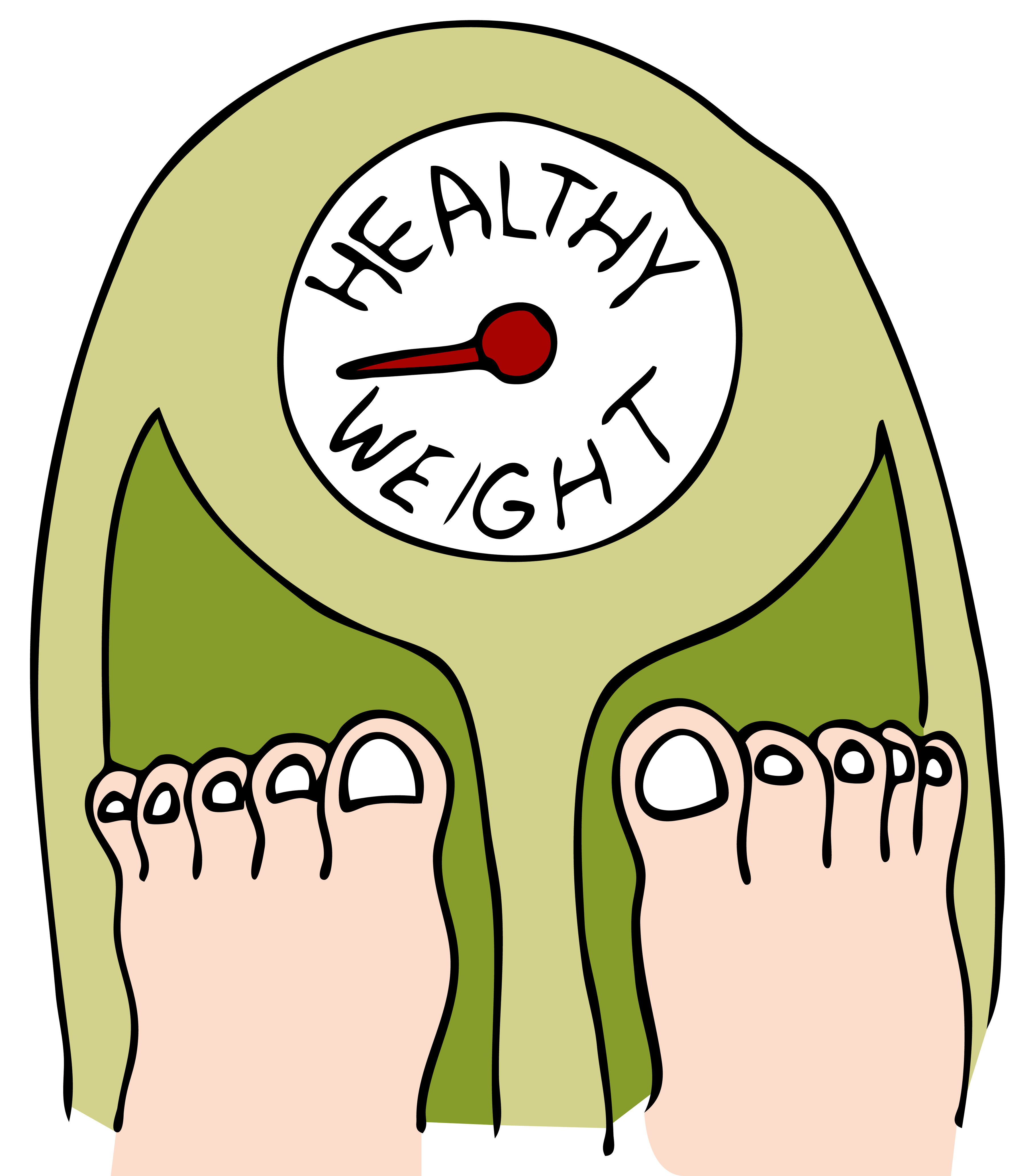 Healthy station . Weight clipart ideal weight