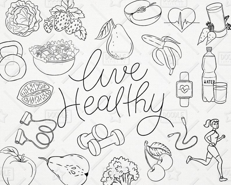 healthy clipart live healthy