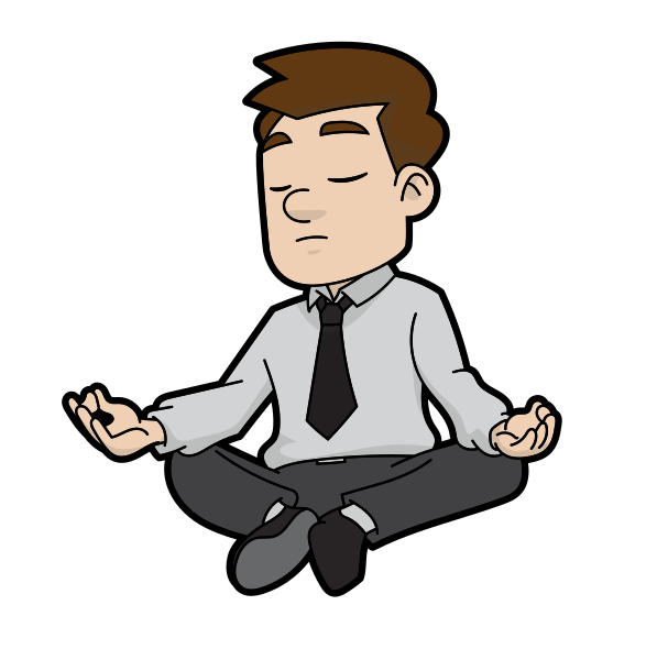 The art of time. Meditation clipart spiritual health
