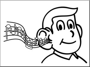 Hear clipart. Clip art basic words