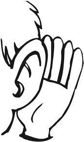 Clipart ear news. Listening images panda free